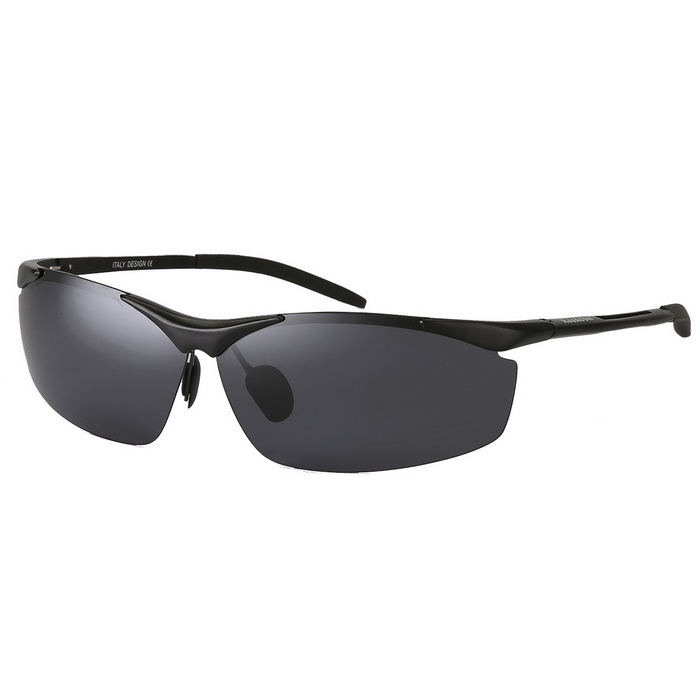 Reedoon 1857 Magnalium Men's Polarized Sunglasses - Black + Grey