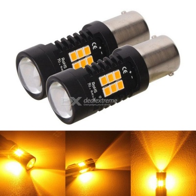 MZ 1156 ba15s 10.5W 21-2835 SMD Amber LED Car Turn Signals (DC 12~24V)