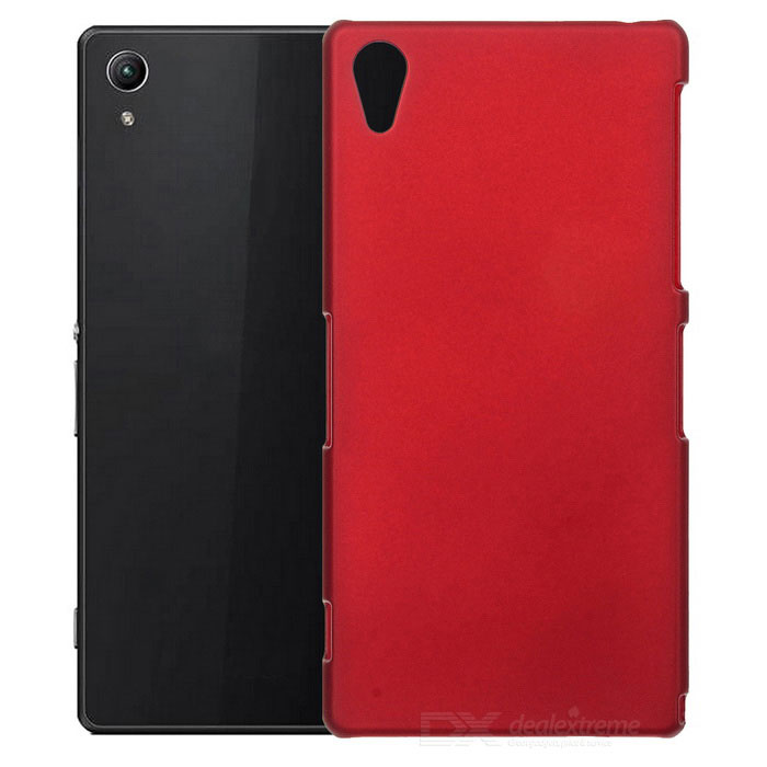 Protective Plastic Back Case for Sony Z2 - Wine Red