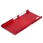 Protective Plastic Back Case for Sony Z1 - Wine Red
