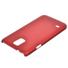Protective Plastic Back Case for Samsung S5 - Wine Red