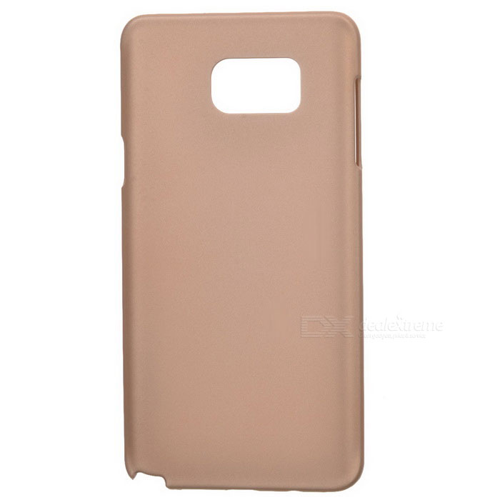 Protective Plastic Back Case for Samsung Note 5 - Golden