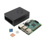 Raspberry Pi 3 Model B + New ABS Case + Heat Sink Kit - Green + Black