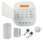 2.4G Wi-Fi GSM Dual Network Intrusion Smart Home Alarm System - White