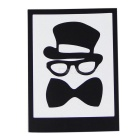 Hat-Prince Bow Pattern Removable Skin Sticker for IPAD - Black