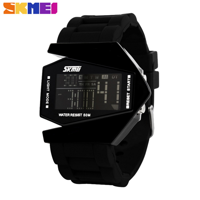 SKMEI 0817 Fighter Designed Sport Colorful LED Digital Watch - BlackSport Watches<br>Form  ColorBlackQuantity1 DX.PCM.Model.AttributeModel.UnitShade Of ColorBlackCasing MaterialSilicone &amp; MetalWristband MaterialSiliconeSuitable forAdultsGenderUnisexStyleWrist WatchTypeFashion watchesDisplayDigitalBacklight5 colorsMovementDigitalDisplay Format12/24 hour time formatWater ResistantWater Resistant 5 ATM or 50 m. Suitable for swimming, white water rafting, non-snorkeling water related work, and fishing.Dial Diameter4.5 DX.PCM.Model.AttributeModel.UnitDial Thickness1 DX.PCM.Model.AttributeModel.UnitWristband Length20 DX.PCM.Model.AttributeModel.UnitBand Width3.5 DX.PCM.Model.AttributeModel.UnitBattery1 * CR2025 (included)Packing List1 * Watch<br>