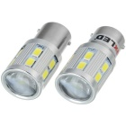 Exled 1157 13W 220LM frío blanco 12-LED lámpara de freno de coche (12V / 2PCS)