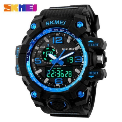 SKMEI 1155 50M Waterproof Multifunction Sports Watch - Blue