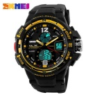 SKMEI 1148 30M Waterproof Multifunction Sport Watch - Gold