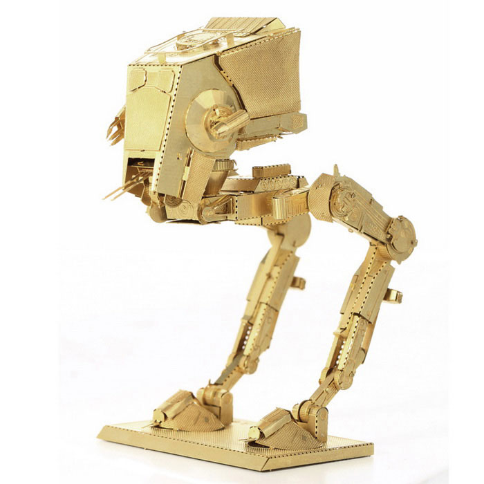 Three-Dimensional Jigsaw Puzzle Assembled Model Brass ATST