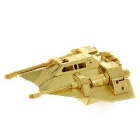 DIY 3D Puzzle Metal Snow Coaster Model Assembled Toy - Golden