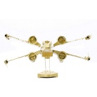 DIY 3D Puzzle modelo montado bronze X-wing Toy Fighter - Ouro