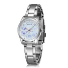 SKONE 504803 Love Flowers Dial Alloy Wrist Watch - Silver + Blue