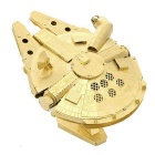 Three-Dimensional Jigsaw Puzzle Assembled Brass Millennium Falcon Model Educational Toy