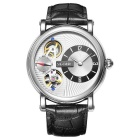 SKONE 394602 Men's Automatic Mechanical Wrist Watch - Black + White