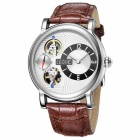 SKONE 394603 Men's Automatic Mechanical + Quartz Wrist Watch - Coffee