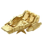 Three-Dimensional Jigsaw Puzzle Assembled Brass Snowmobile Model Educational Toy