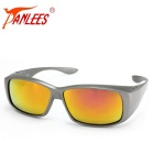 Panlees DE589 PC Frame TAC Lens Sunglasses - Gun Grey + Grey