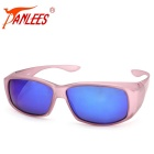 Panlees DE589 PC Frame TAC Lens Sunglasses - Matte Pink + Grey