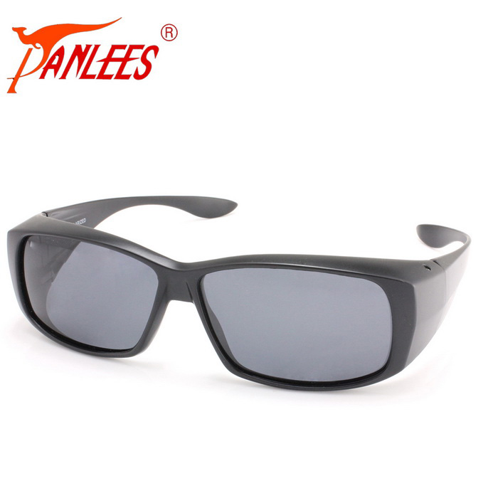 Panlees DE589 PC Frame TAC Lens Sunglasses - Matte Black + Grey