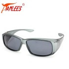 Panlees DE589 PC Frame TAC Lens Sunglasses - Matte Grey + Grey