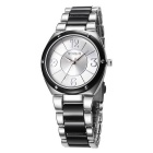 WeiQin 392201 Bezel Nail Decorated Dial Wrist Watch - Silver + Black