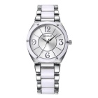 WeiQin 392203 Bezel Nail Decorated Dial Wrist Watch - Silver + White