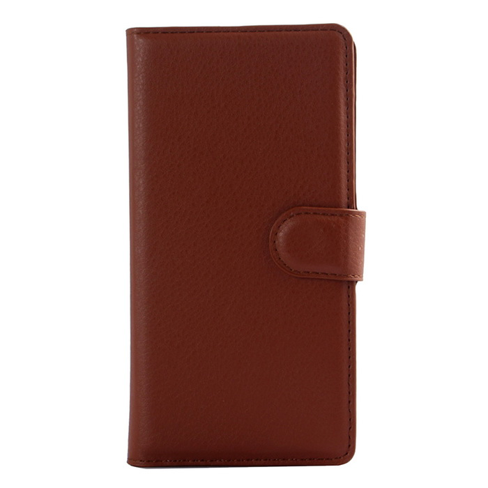 Litschi-Korn-Muster PU-Fall w / Stand für SONY Xperia E3 - Brown
