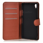 Lichee Pattern Protective Case for Sony Xperia Z1 - Brown