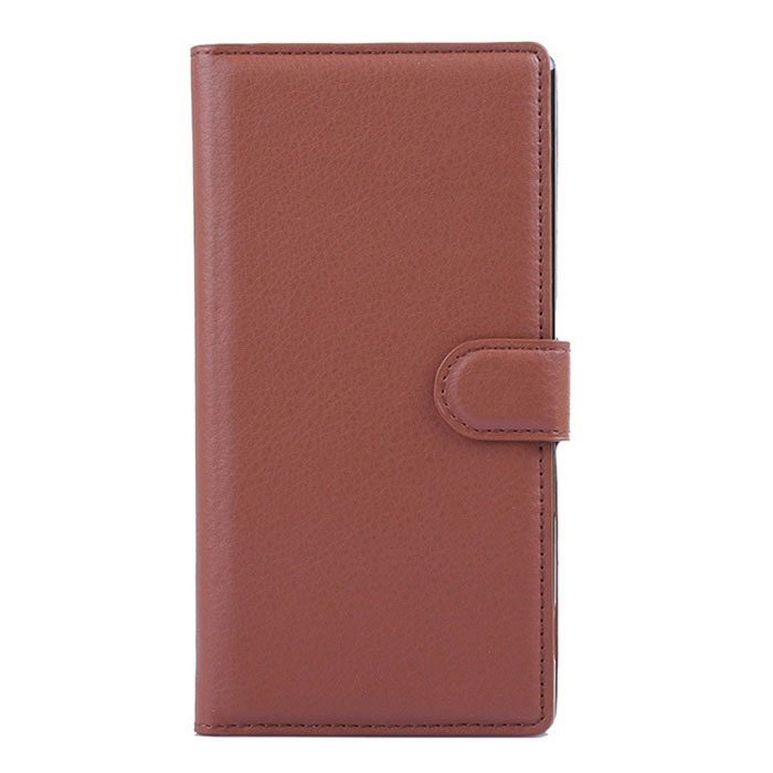 Lichee Pattern Protective Case for Sony Xperia T3 - Brown
