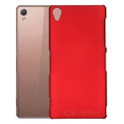 Protective Plastic Back Case for Sony Z3 - Wine Red