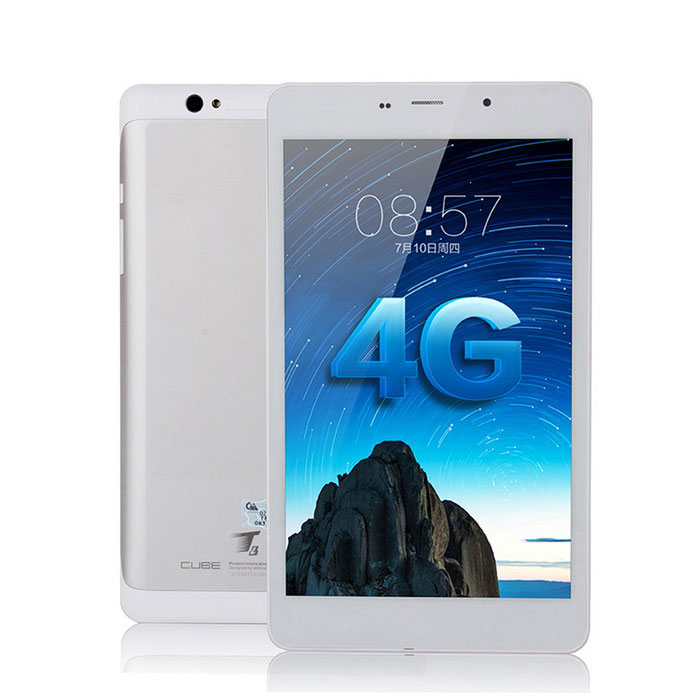 "CUBE T8 8 ""Quad-Core Android Dual-4G Tablet PC w / 1GB + 16GB - Branco"