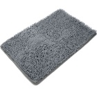 Non-slip Microfiber Bath Mat Bathroom Shower Rug - Gray + White