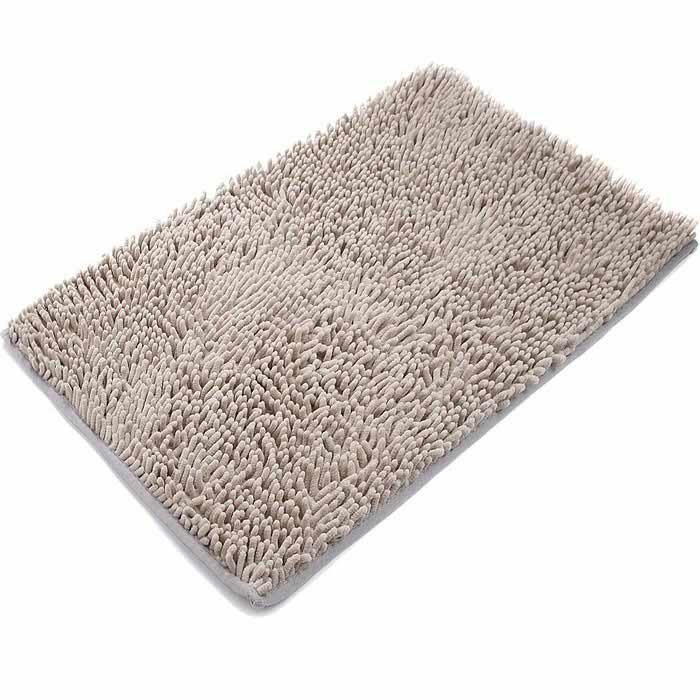 Non Slip Microfiber Bath Mat Bathroom Shower Rug Beige Free Shipping Dea
