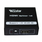Wiistar WS_F112 1 IN to 2 Out Full HD HDMI Splitter - Black + White