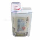 Portable Rice Bucket Cup Kitchen Food Storage Tank - Transparent