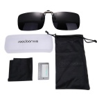 ReeDoon 2201 Polarized Sunglasses Glasses Clip Lens - Grey + Black