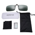 ReeDoon 2201 Polarized Sunglasses Clip Lens - Dark Green + Black