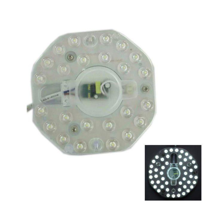 12W 1200lm 24-SMD 2835 source lumineuse blanche pour plafonnier