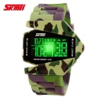 SKMEI 0817 Fighter Designed Sport Colorful LED Digital Watch - Green