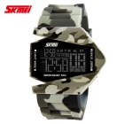 SKMEI 0817 Fighter Designed Sport Colorful LED Digital Watch - Gray