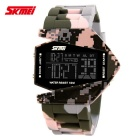 SKMEI 0817 Fighter Designed Sport Colorful LED Digital Watch - Pink