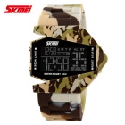 SKMEI 0817 Fighter Designed Sport Colorful LED Digital Watch - Yellow