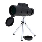 12X 52mm Monocular Telescope Bak4 Optics Mono Spotting Scope - Black