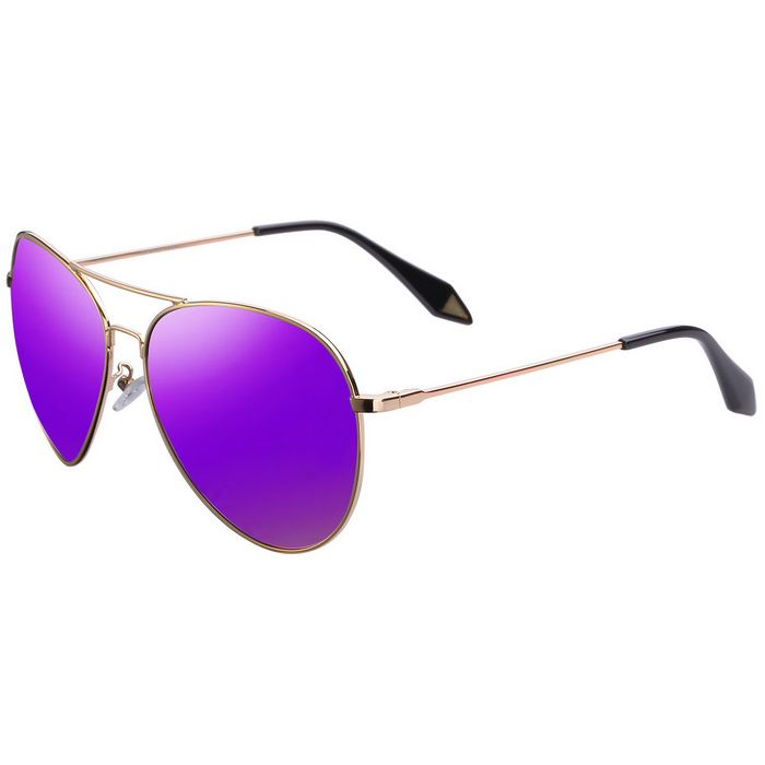 ReeDoon 2533 Multi-Face Fitted Polarized Sunglasses - Gold + Purple