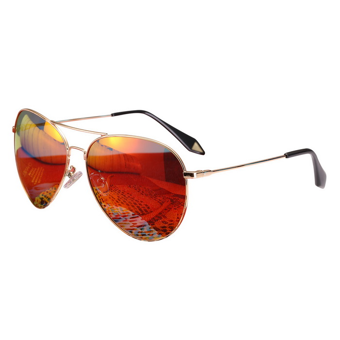 ReeDoon 2533 Multi-Face Fitted Polarized Sunglasses - Gold + Orange