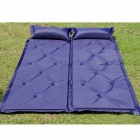Automatic Inflatable Waterproof Mattress w/ Pillow - Dark Blue