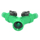 Riego de jardín 2 way splitter connector accessories - negro + verde