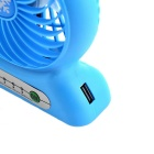Portátil multifuncional Lithium Battery Fan w / LED Light - Azul