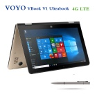 "Voyo VBook V1 10.1"" Quad-Core Win10 Tablet PC 4GB+64GB -Champagne (4G)"